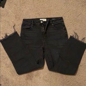 PacSun Mom Jeans Black Distressed
